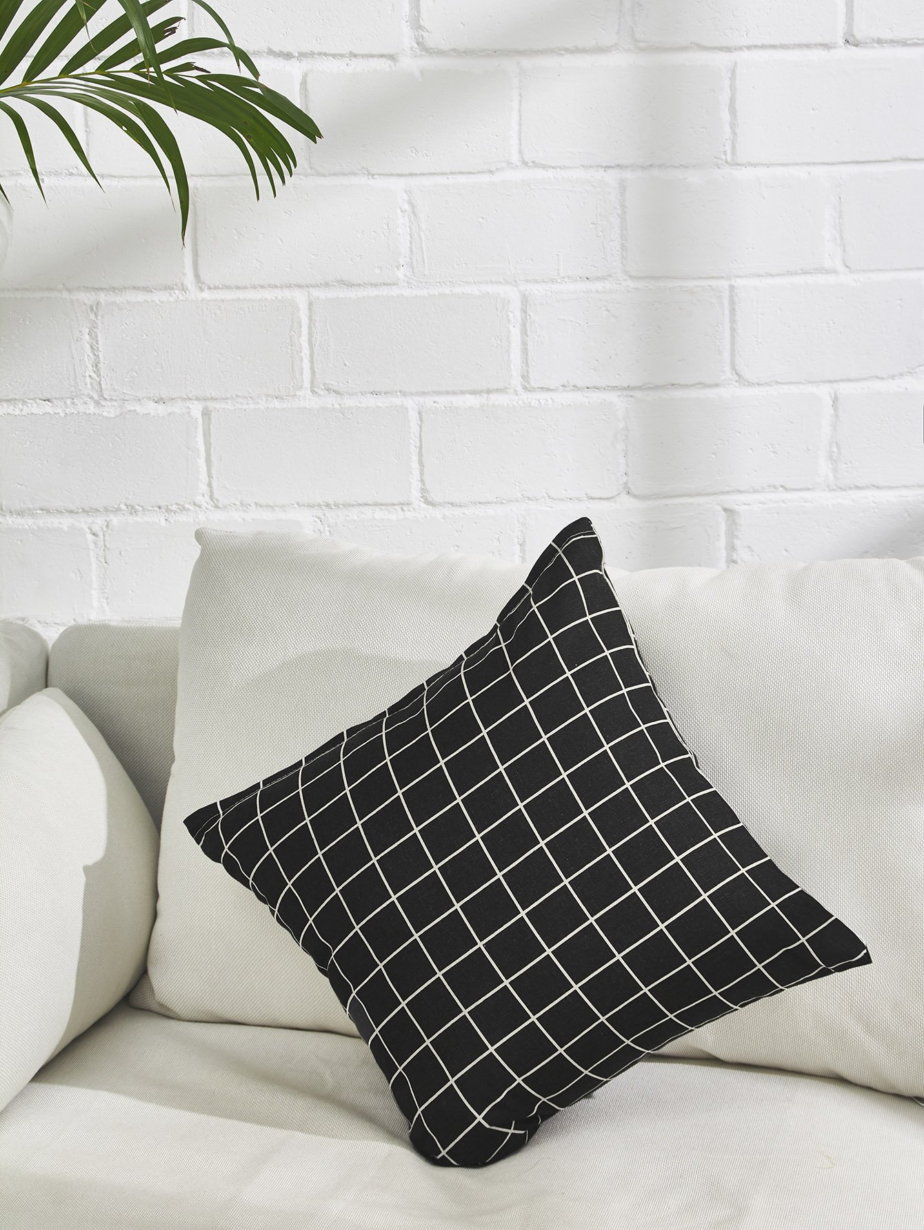 Allover Grid Print Pillowcase Cover allover grid print pillowcase cover