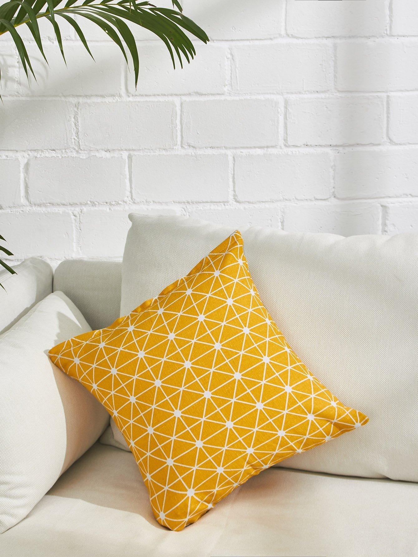 Allover Plaid Print Pillowcase Cover allover grid print pillowcase cover