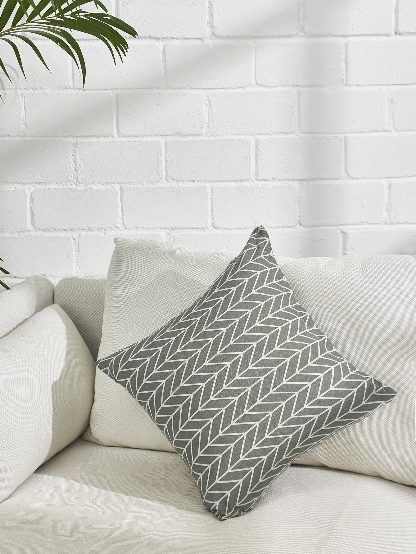 Allover Chevron Print Pillowcase Cover allover grid print pillowcase cover