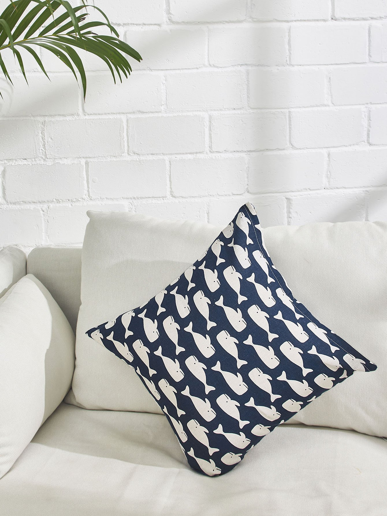 Allover Fish Print Pillowcase Cover allover grid print pillowcase cover