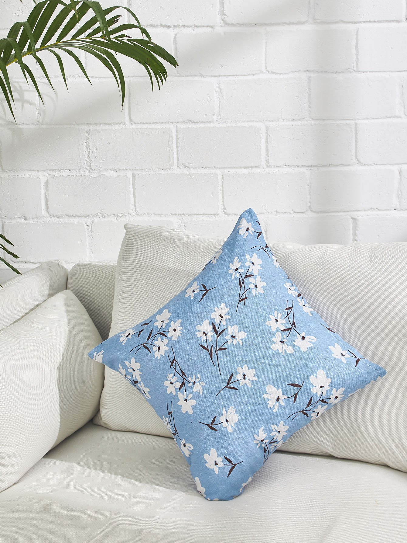 Flower Print Pillowcase Cover panda print linen pillowcase cover