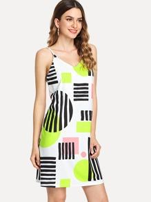 Color Block Tunic Cami Dress