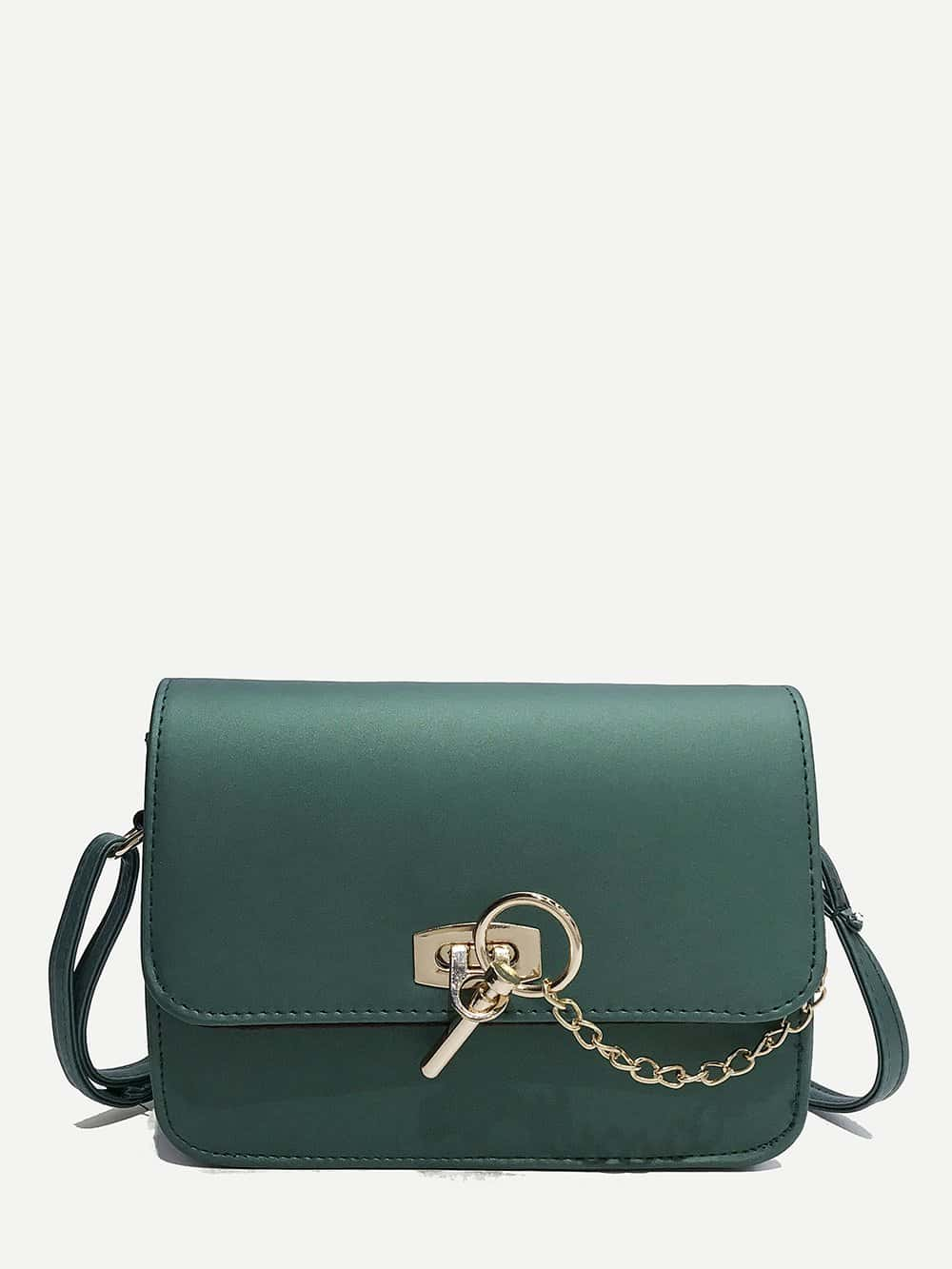 PU Flap Chain Crossbody Bag flap pu chain bag