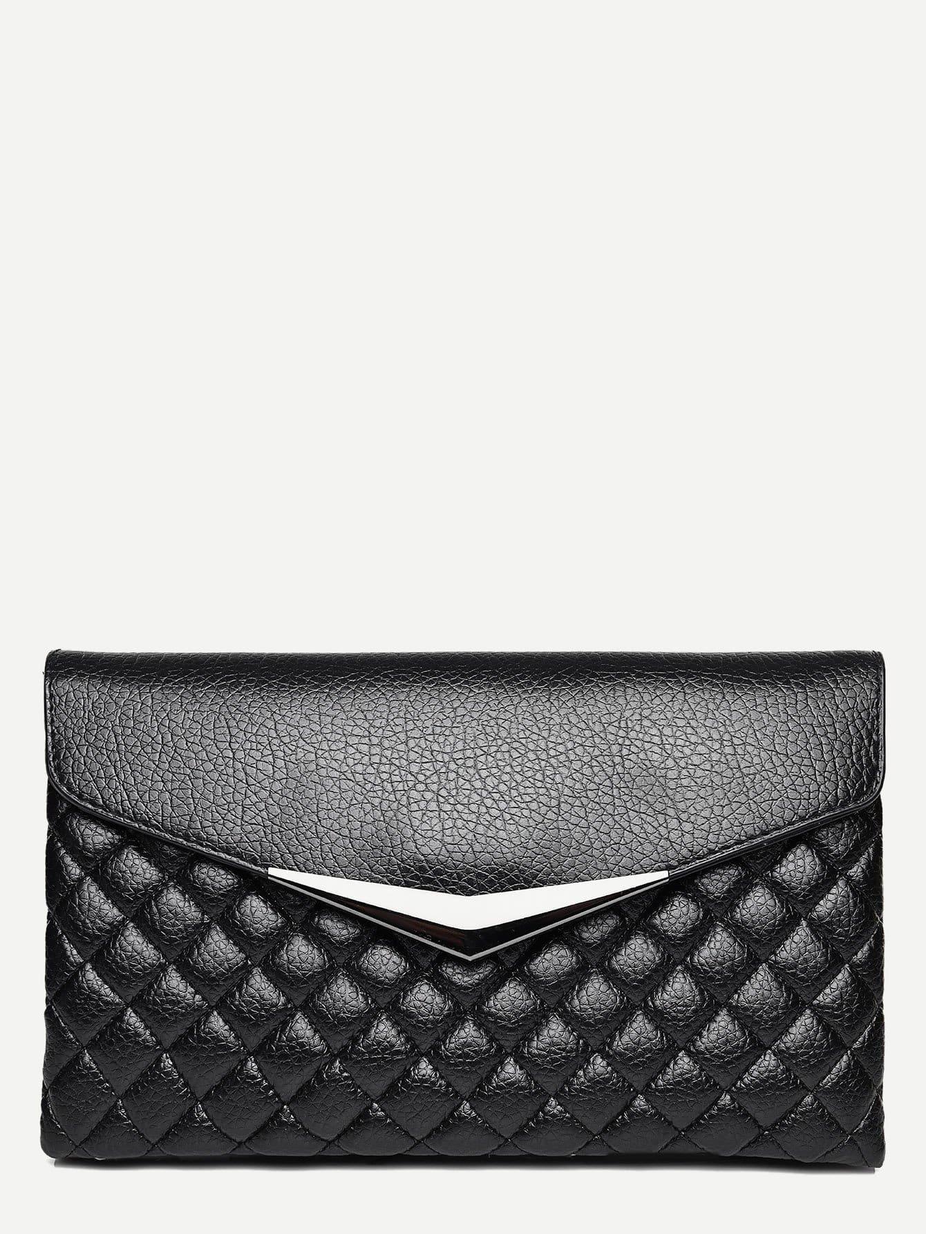 Quilted Detail PU Shoulder Bag With Ring Handle все цены