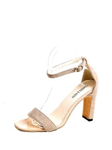 Ankle Strap Suede Heeled Sandals