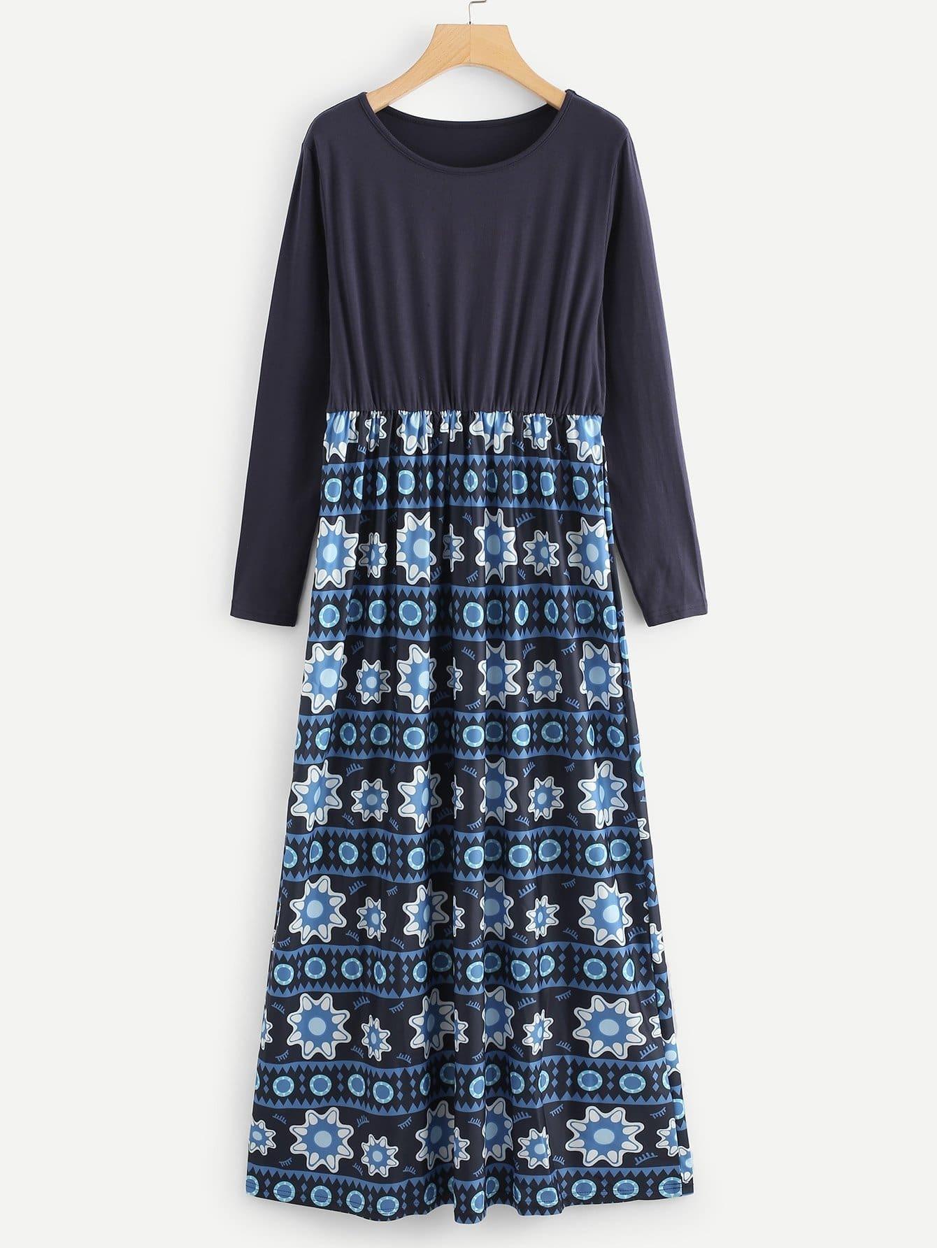 Geo Print Combo Dress все цены