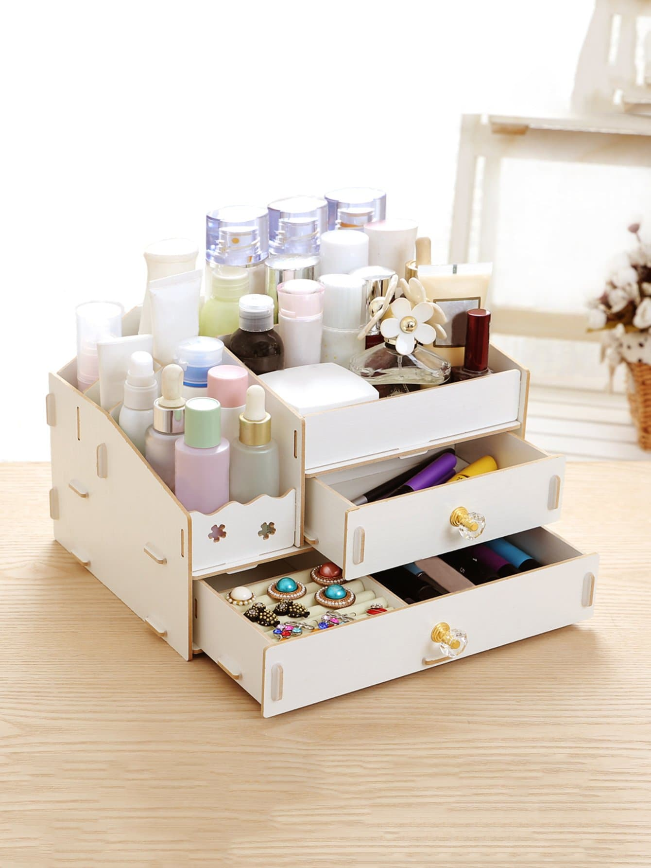 Drawer Desk Organizer kitcox01761easaf3274bl value kit safco one drawer hospitality organizer saf3274bl and clorox disinfecting wipes cox01761ea