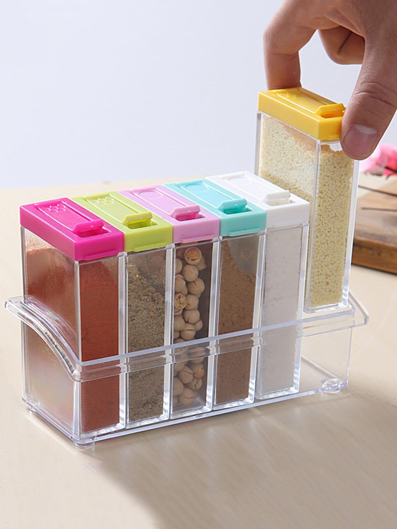 Random Color Seasoning Container With Lid 1pc random color dumpling dough press 1pc