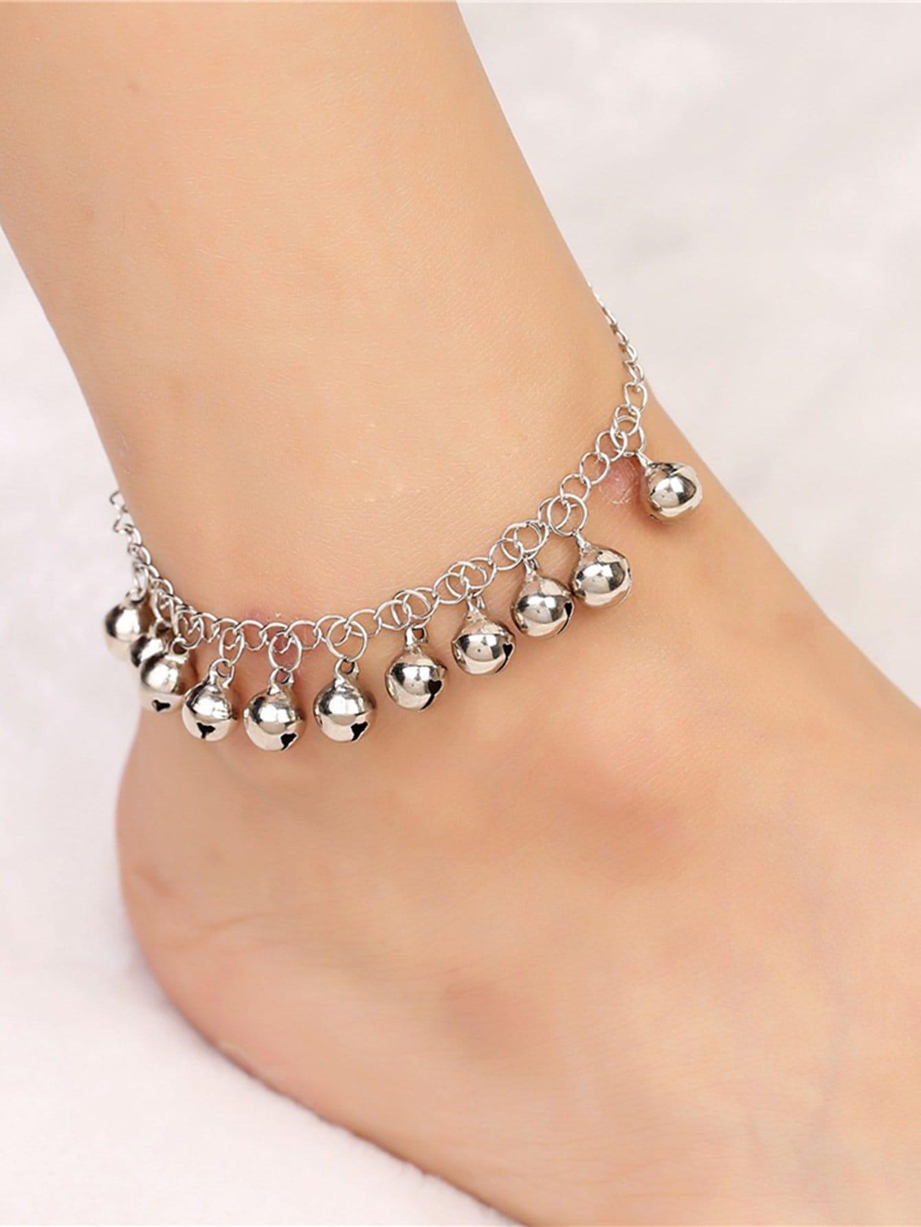 Bell Charm Design Chain Anklet