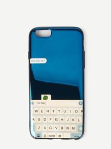 Alphabet Keyboard Print iPhone Case