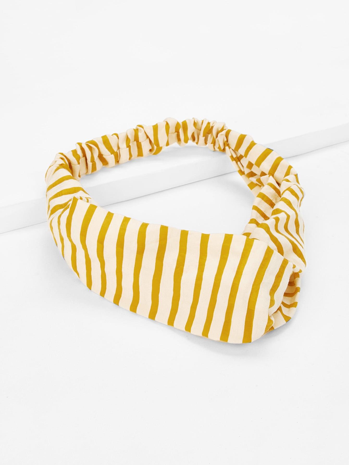 Twist Design Striped Headband