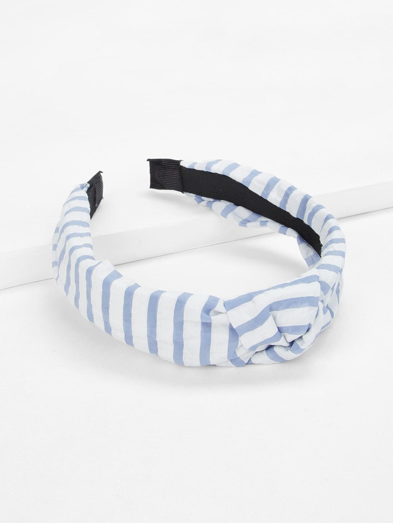 Knot Design Striped Headband