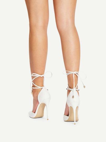 SheIn / Pointed Toe Tie Leg Stiletto Heels