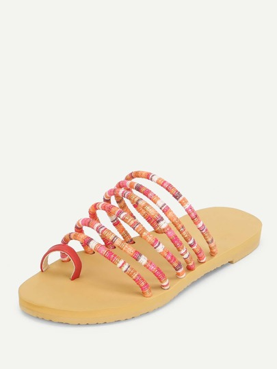SheIn / Toe Ring Strappy Flat Sandals