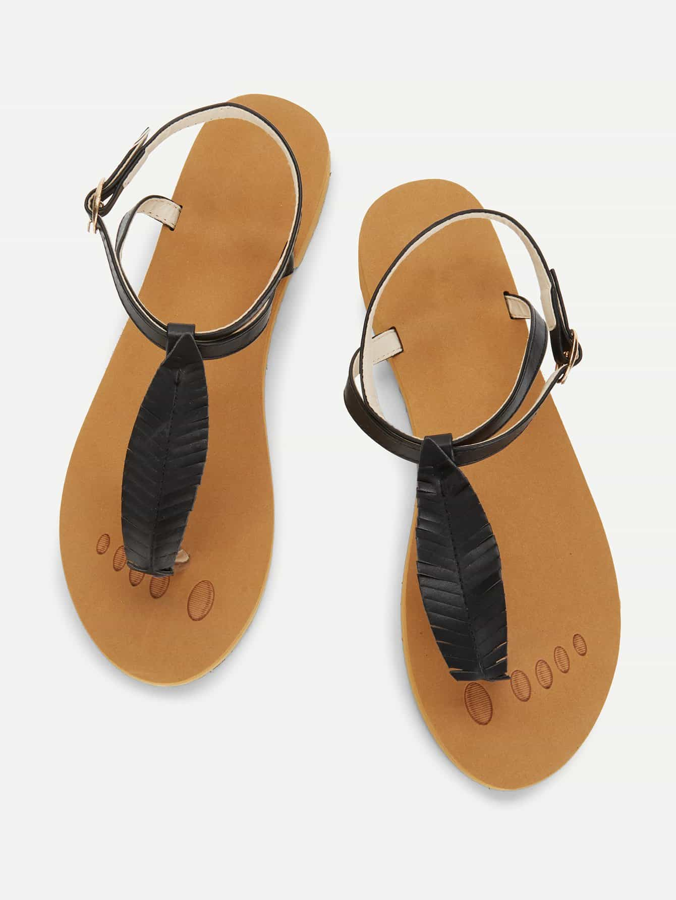 Toe Post Strappy Flat Sandals rose decorated toe post flat sandals
