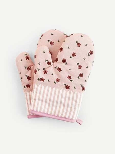 Flower Print Oven Glove 1pc