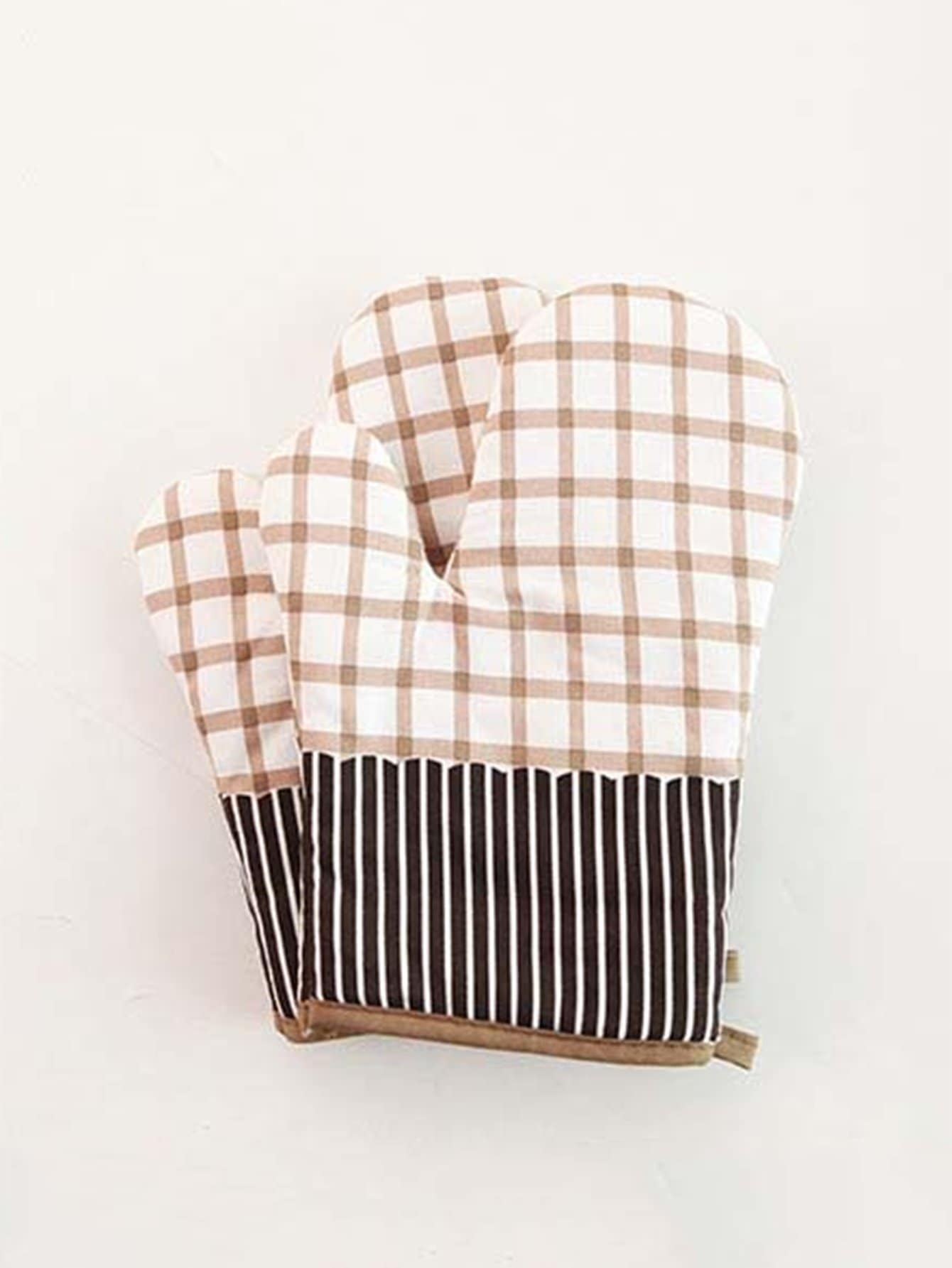 Grid & Striped Oven Glove 1pc alex clark rooster double oven glove