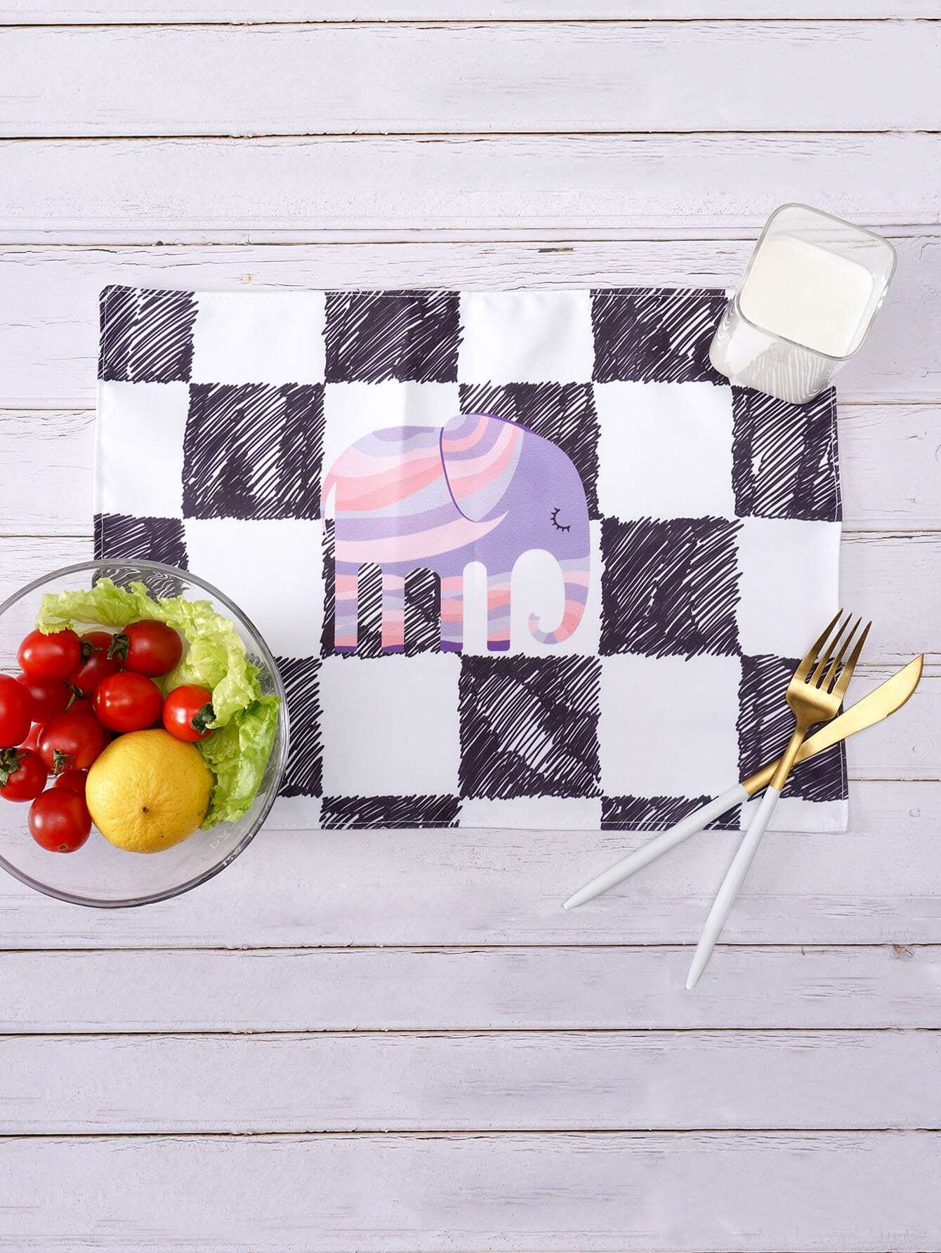 Checker Print Table Placemat