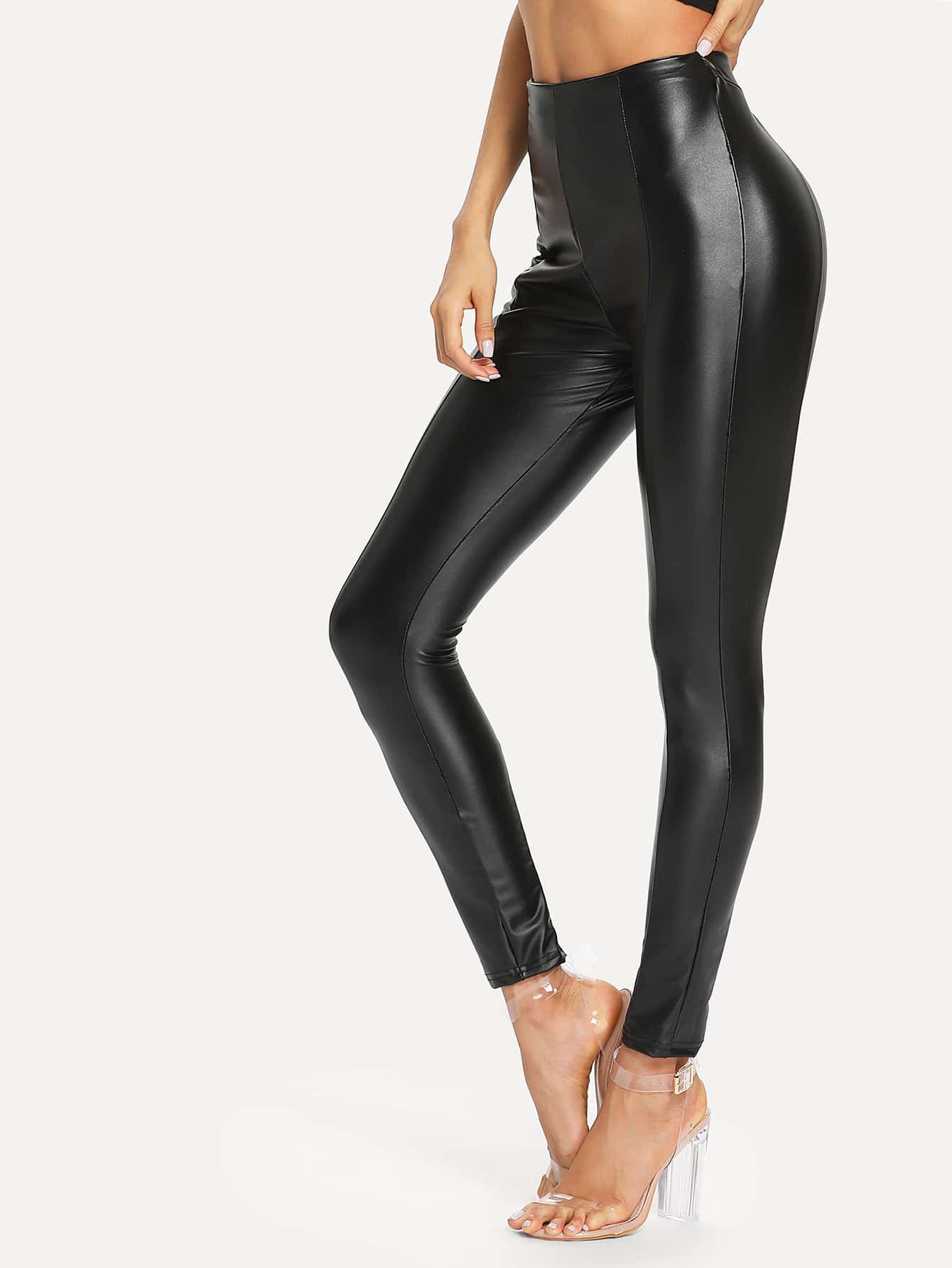 PU Slim Fit Pants
