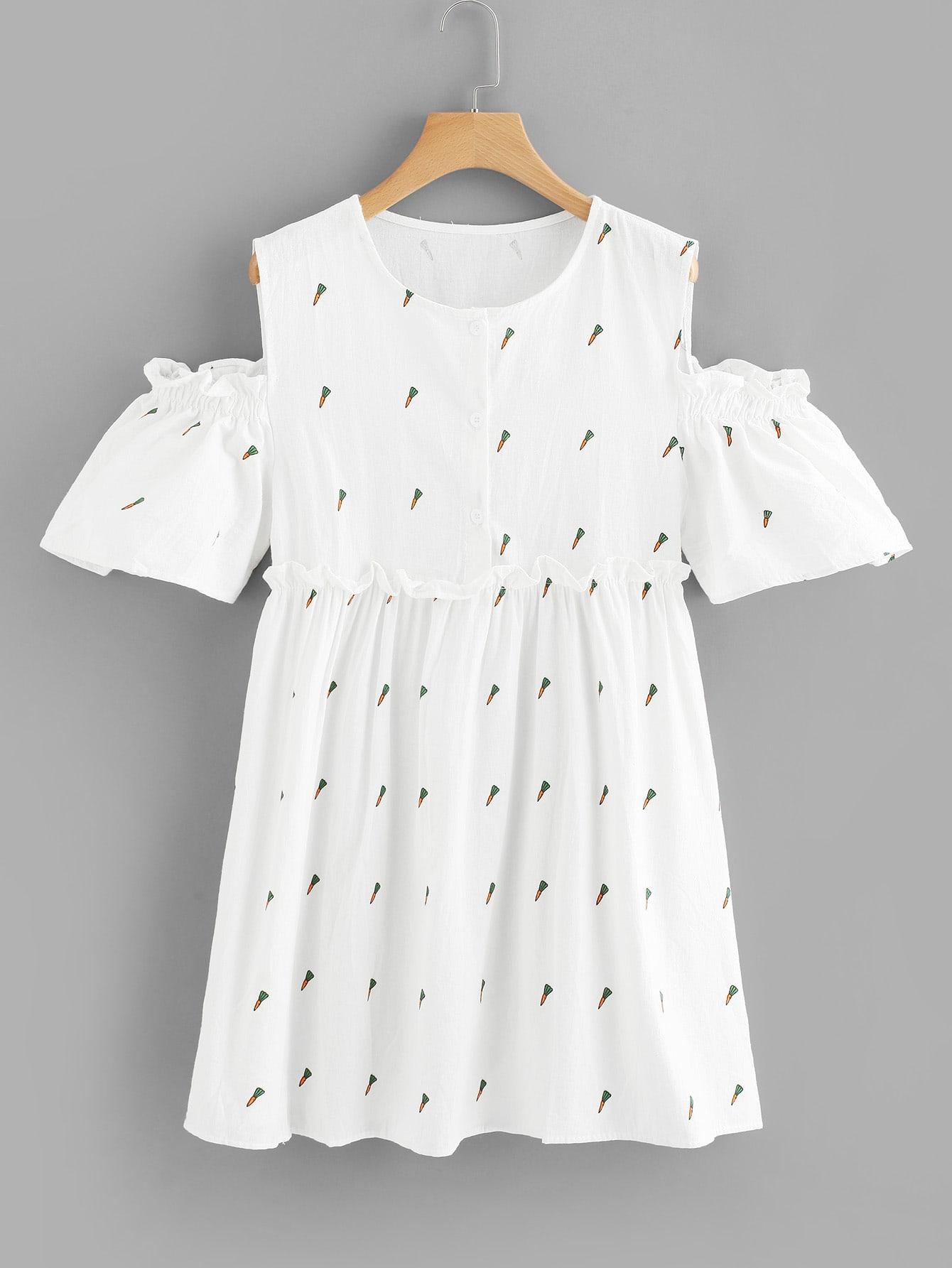 Open Shoulder Printed Dress open shoulder printed dress