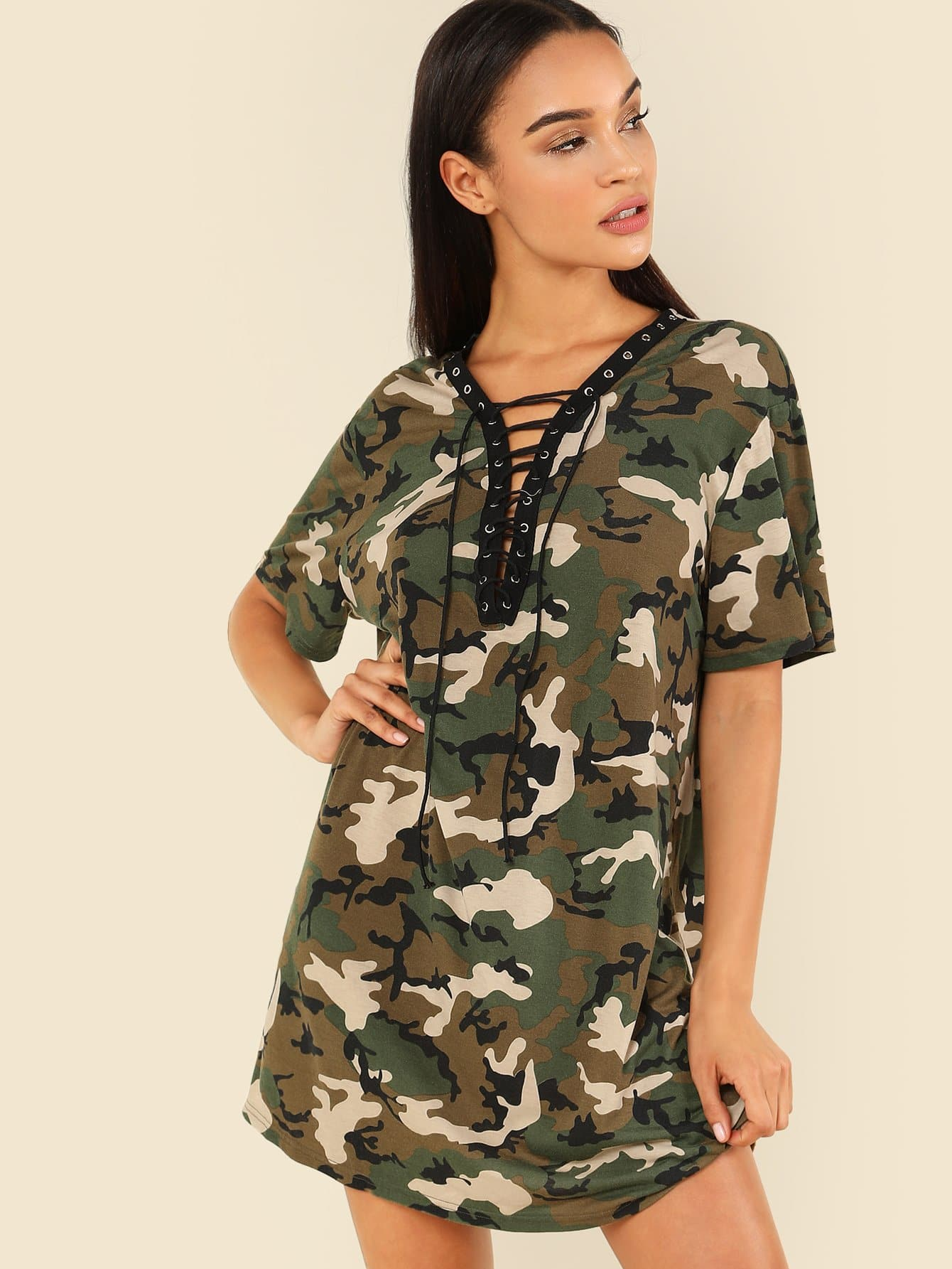 Grommet Lace Up Camo Print Dress continental contisportcontact 3 205 40 r17 84v