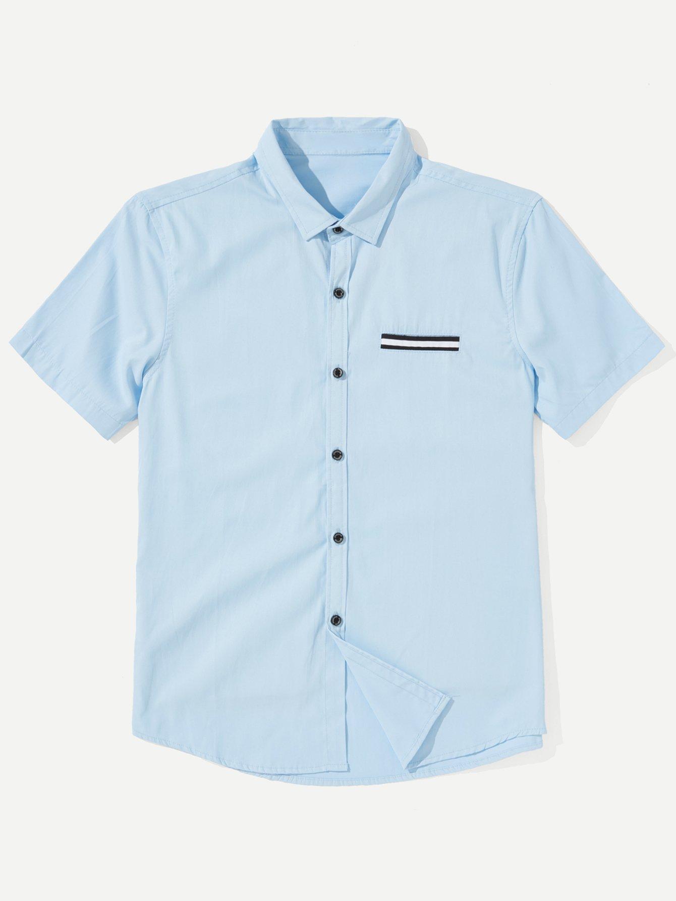 Купить Рубашка с полосками для мужчин, null, SheIn