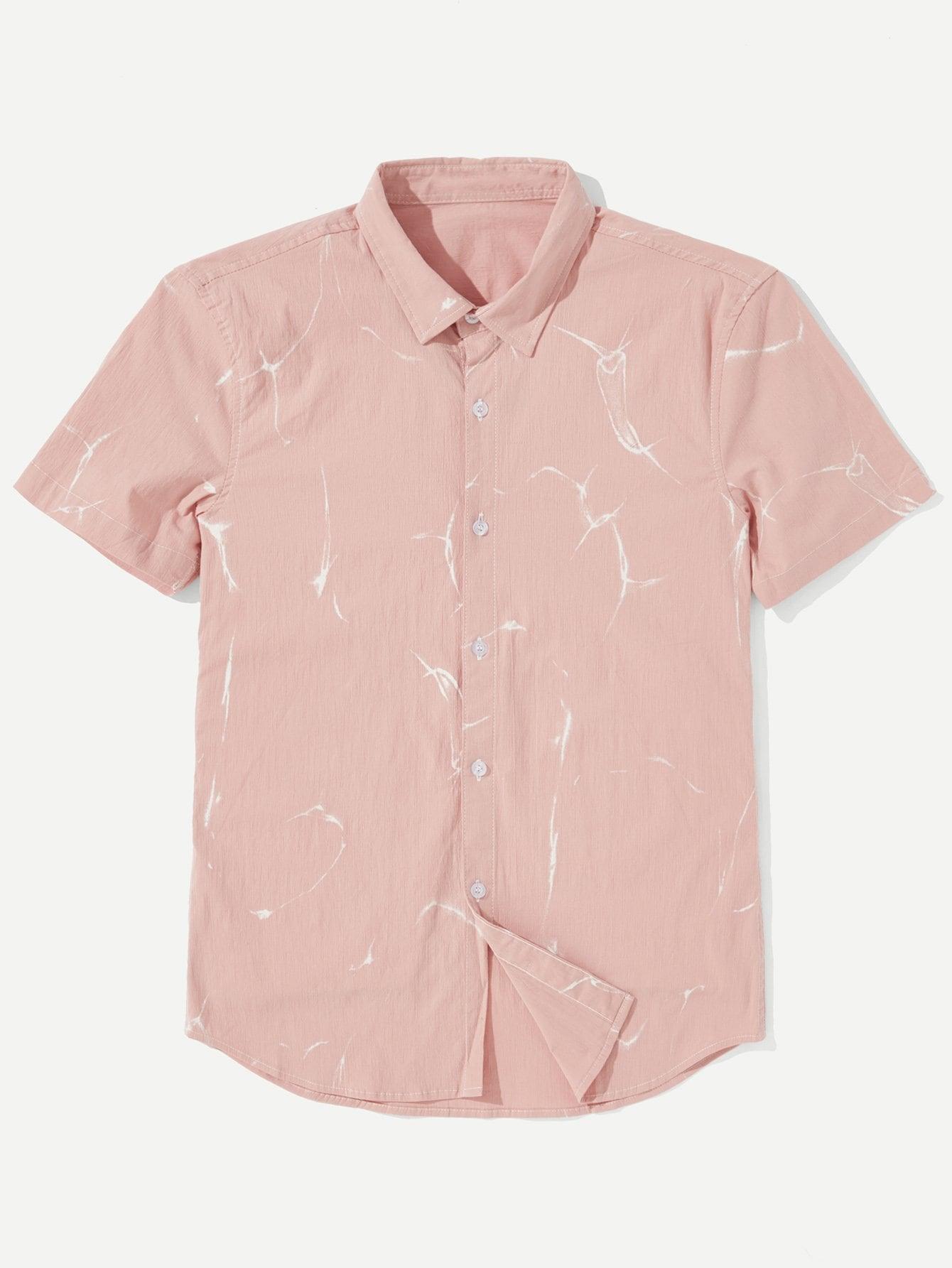 Купить Рубашка с принтом абстракция для мужчин, null, SheIn