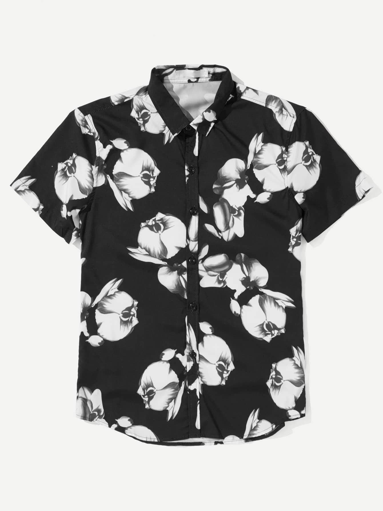 Men All Over Florals Shirt men all over florals shirt
