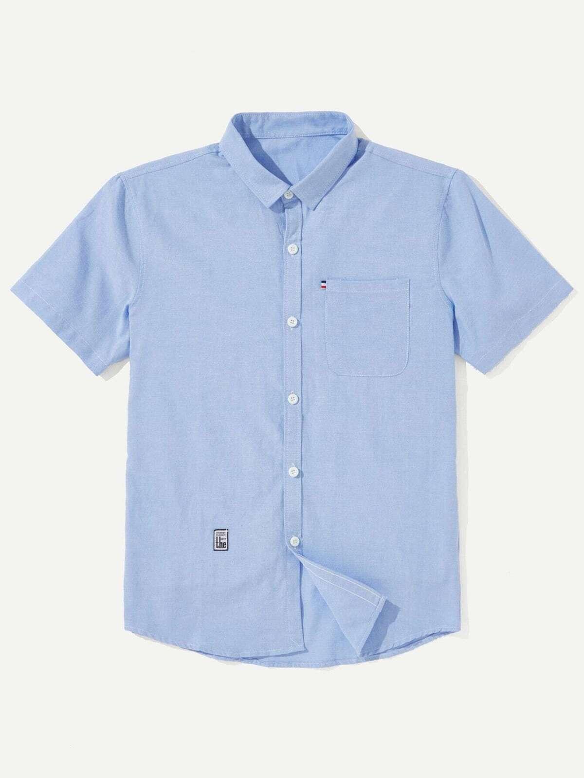 男人 貼片 裝飾 襯衫