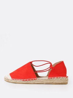 Closed Toe Espadrille Flat