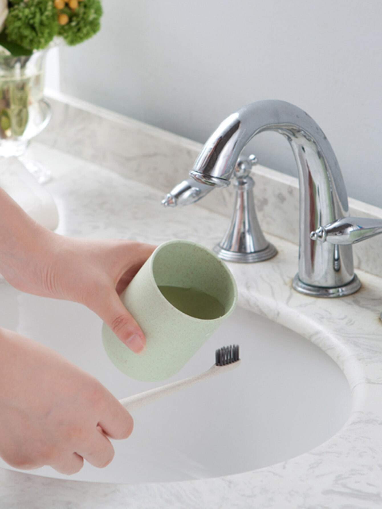 Toothbrush Holder With Wristlet clear toothbrush holder