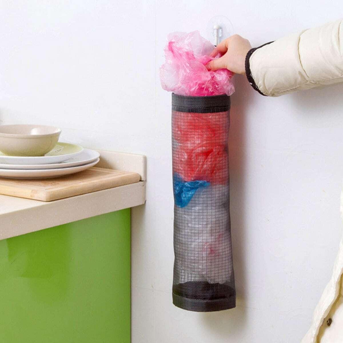 Plastic zak dispender