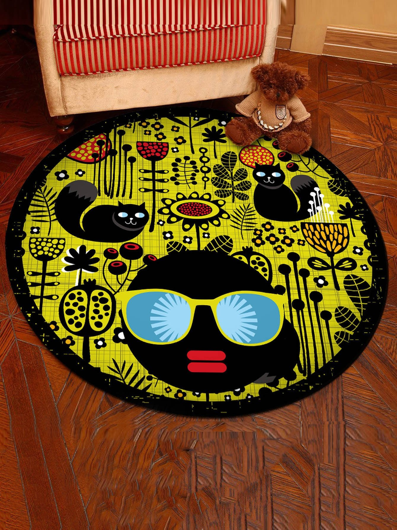 Cartoon Pattern Round Mat