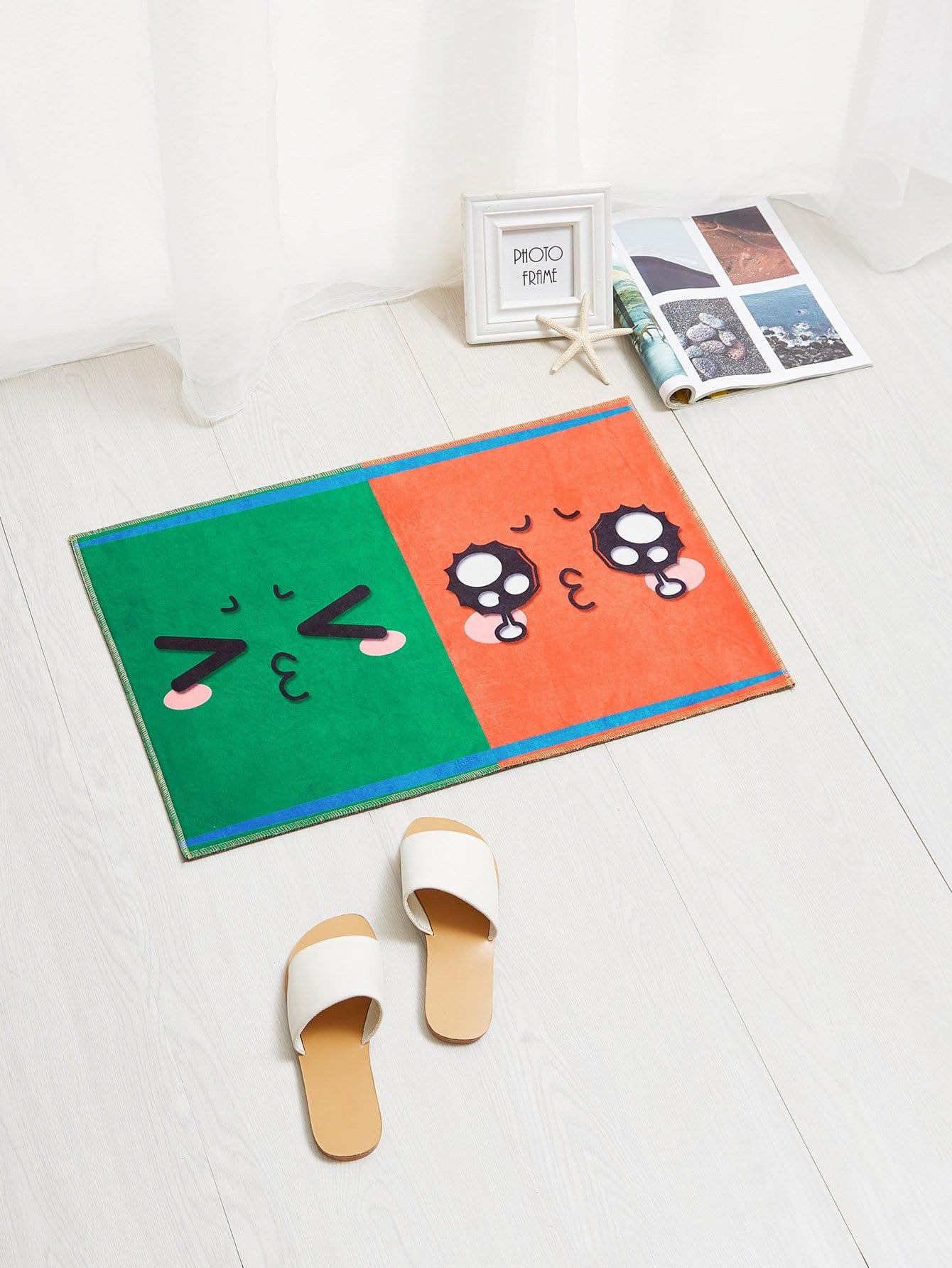 Cartoon Emoji Mat cartoon animal door mat