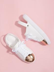 Slingback Cap Toe Sneakers