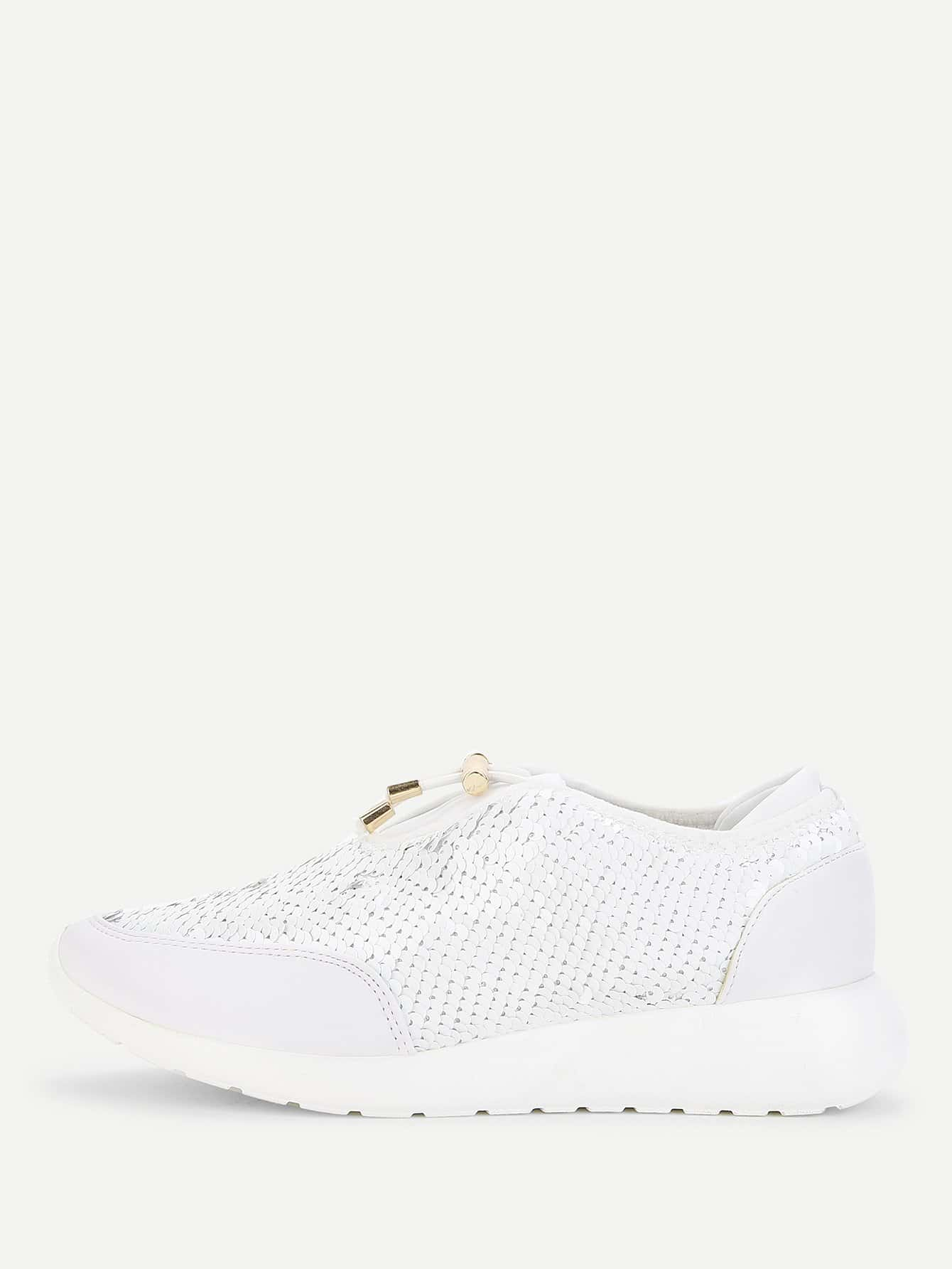 Sequin Decorated Lace Up Sneakers