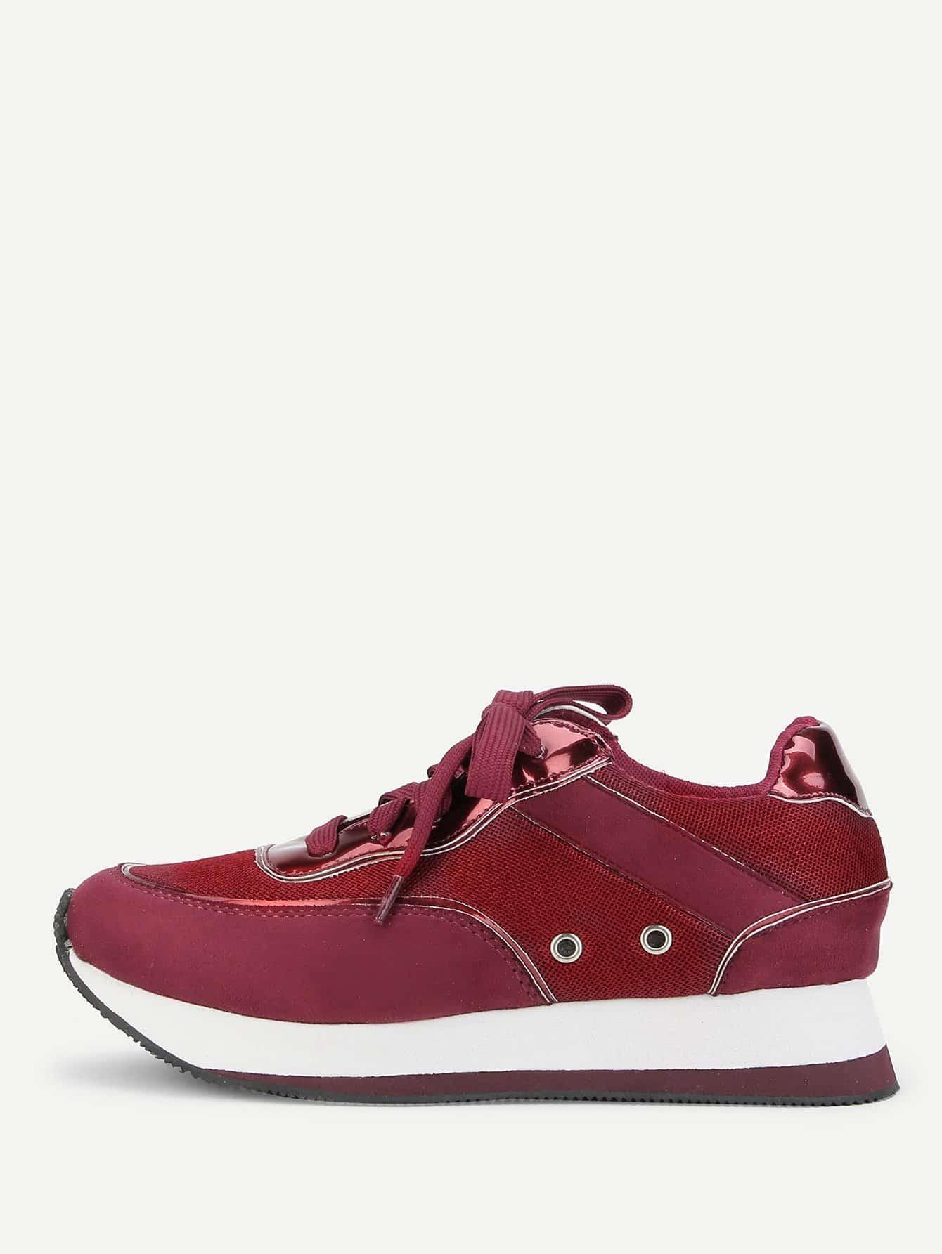 Кеды  Бордовый цвета