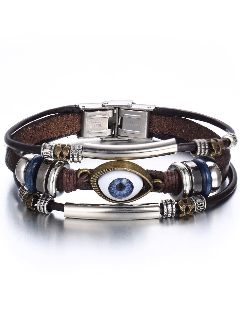 Mehrlagiges Armband mit Ausgen