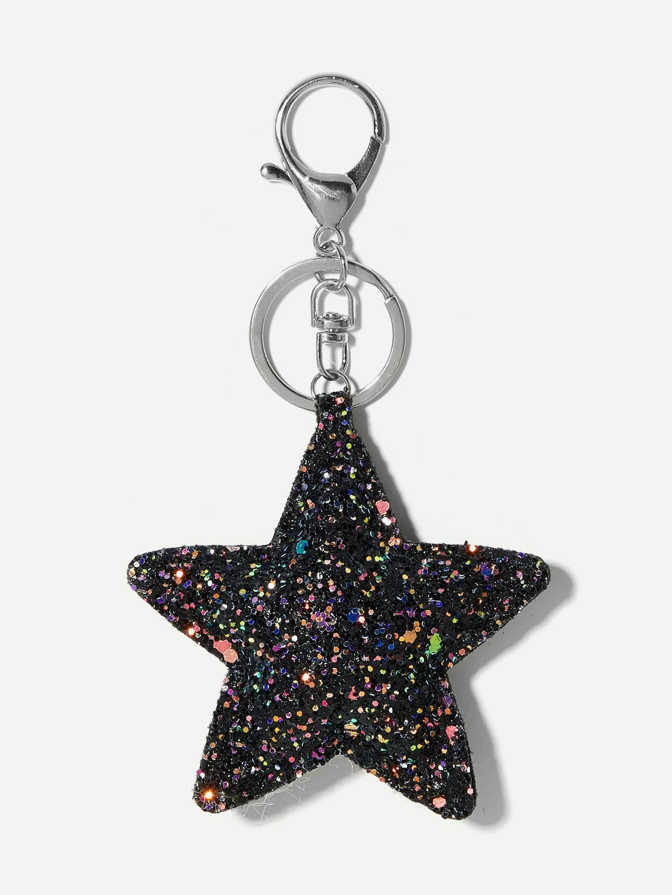 Брелок звезда с блестками, null, SheIn  - купить со скидкой