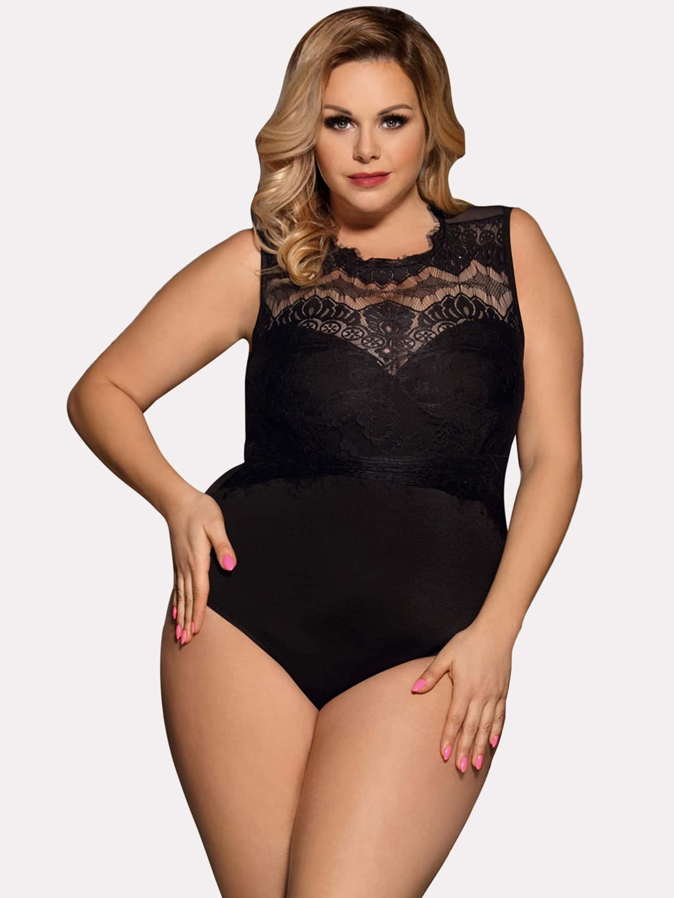 Contrast Lace Teddy contrast lace teddy