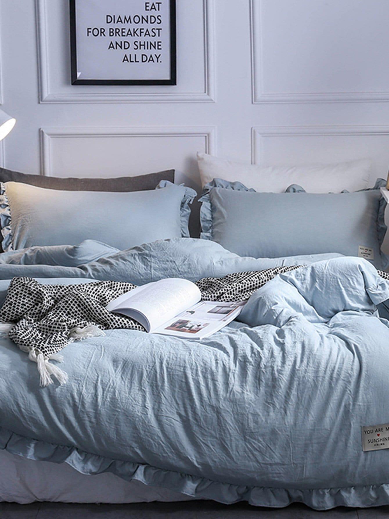 Купить Комплект постельного белья с надписью, null, SheIn