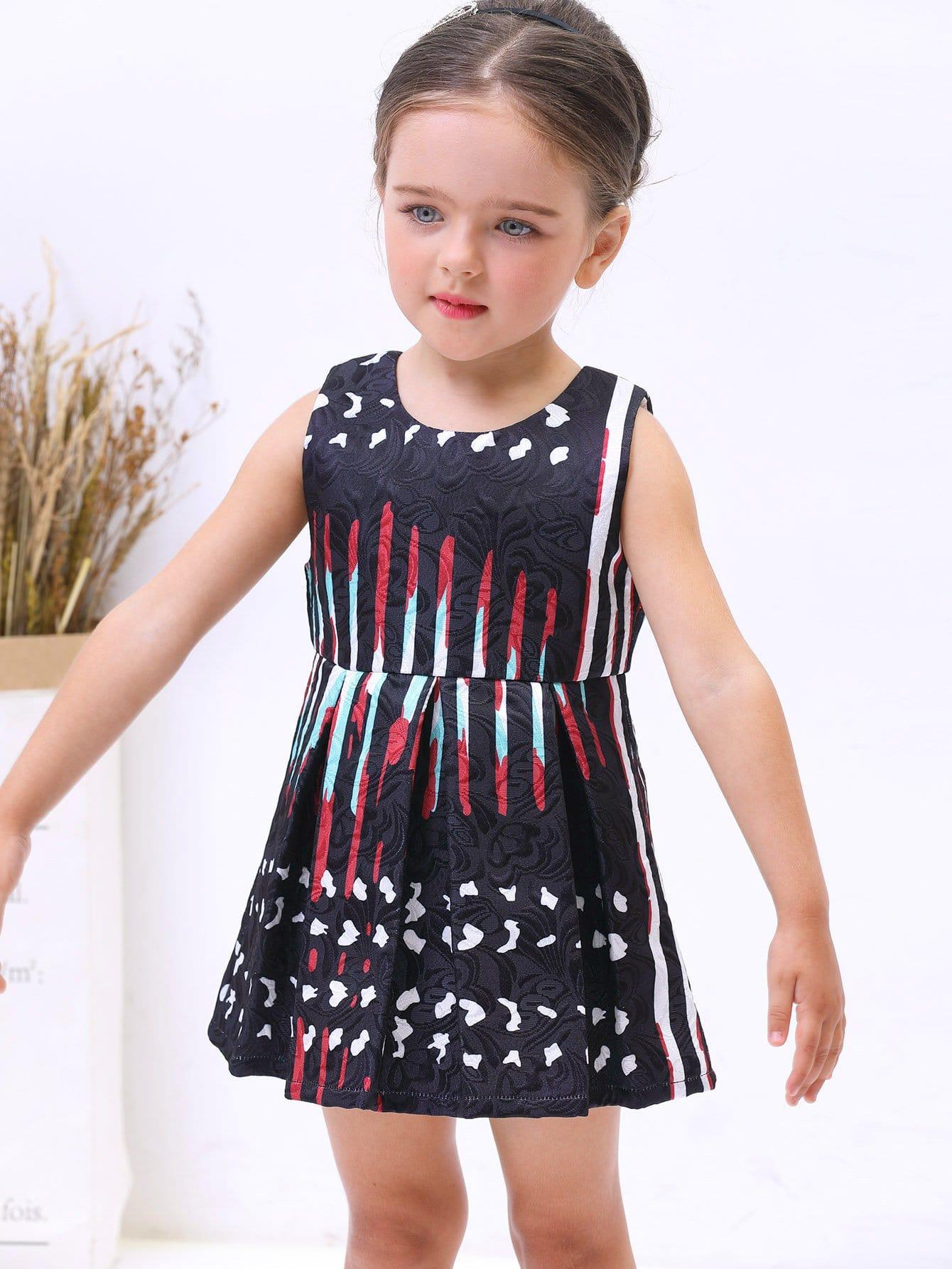 Купить Платье для детей Geo Print Box, null, SheIn