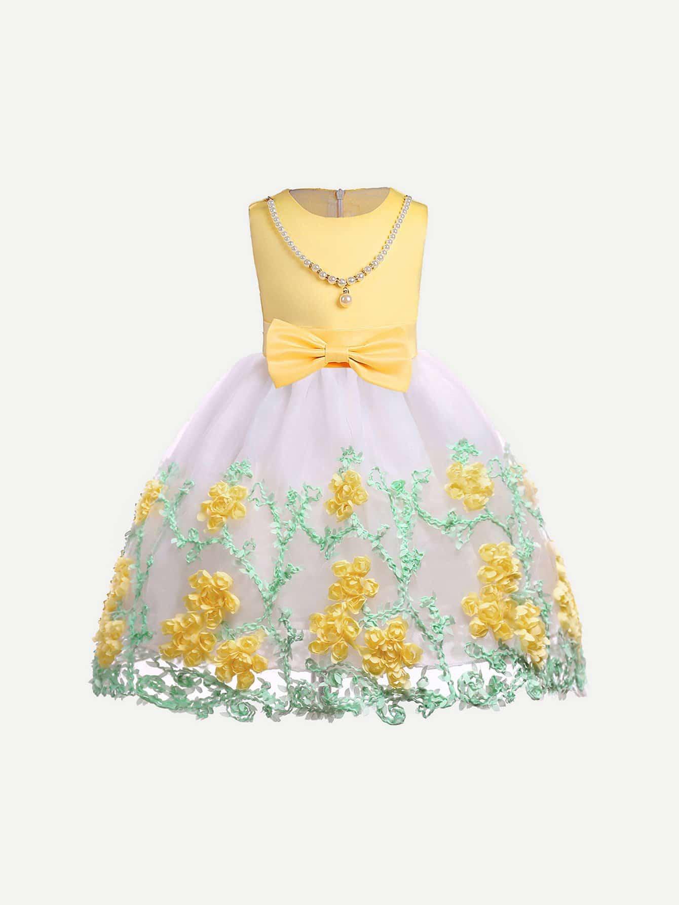 Купить Платье с надписью «Платье для вышивки», null, SheIn