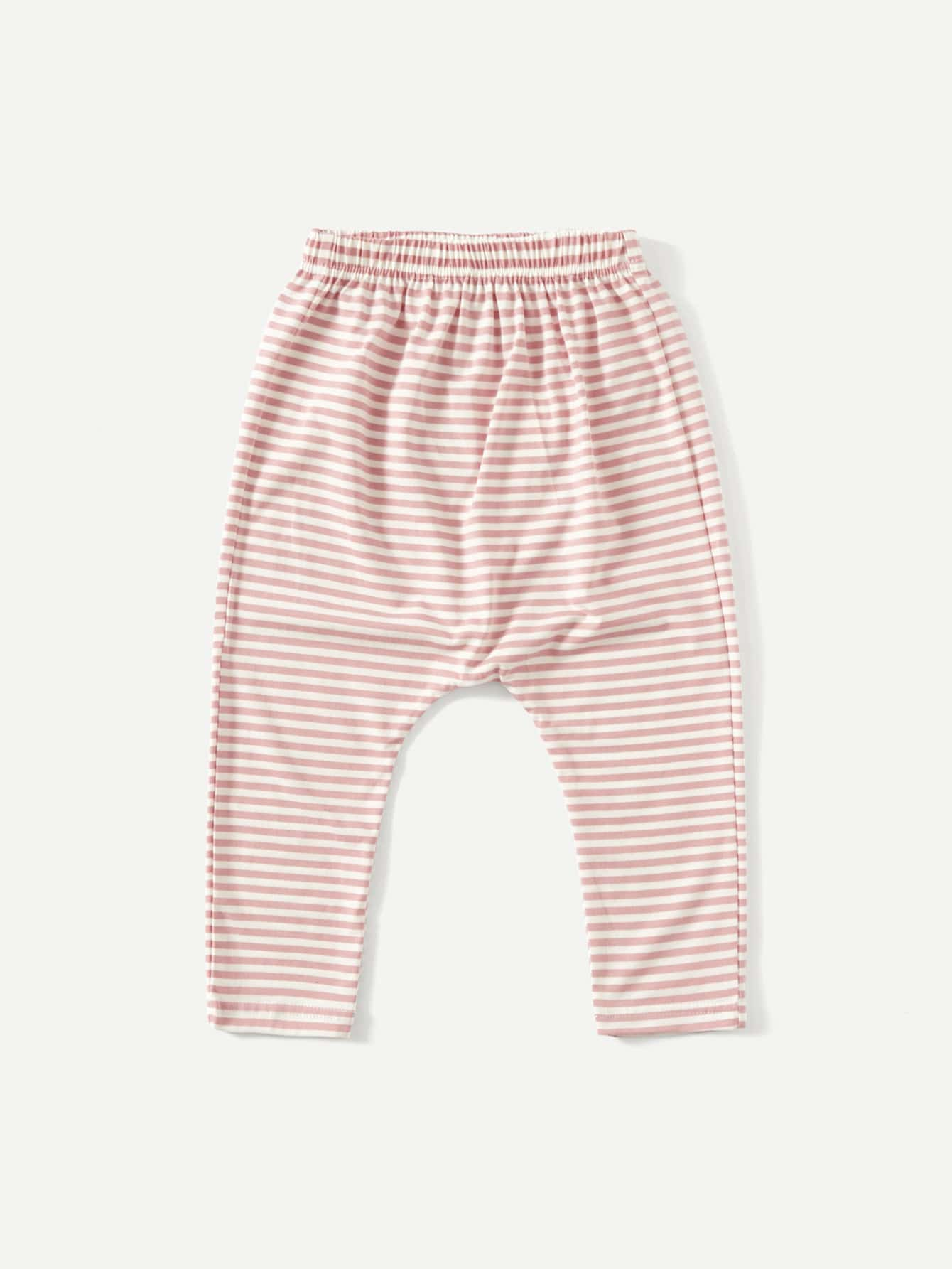 Kids Elastic Waist Striped Pants kids elastic waist striped pants