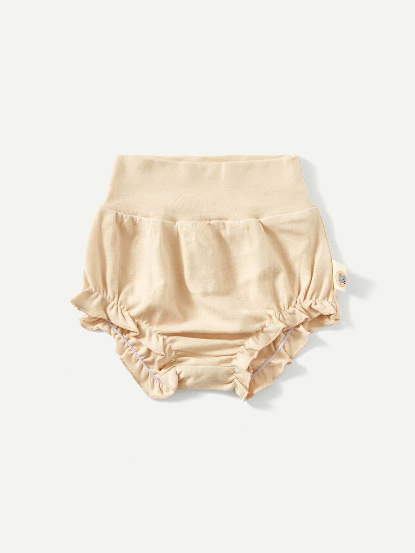 Girls Elastic Waist Frill Plain Shorts цена 2017