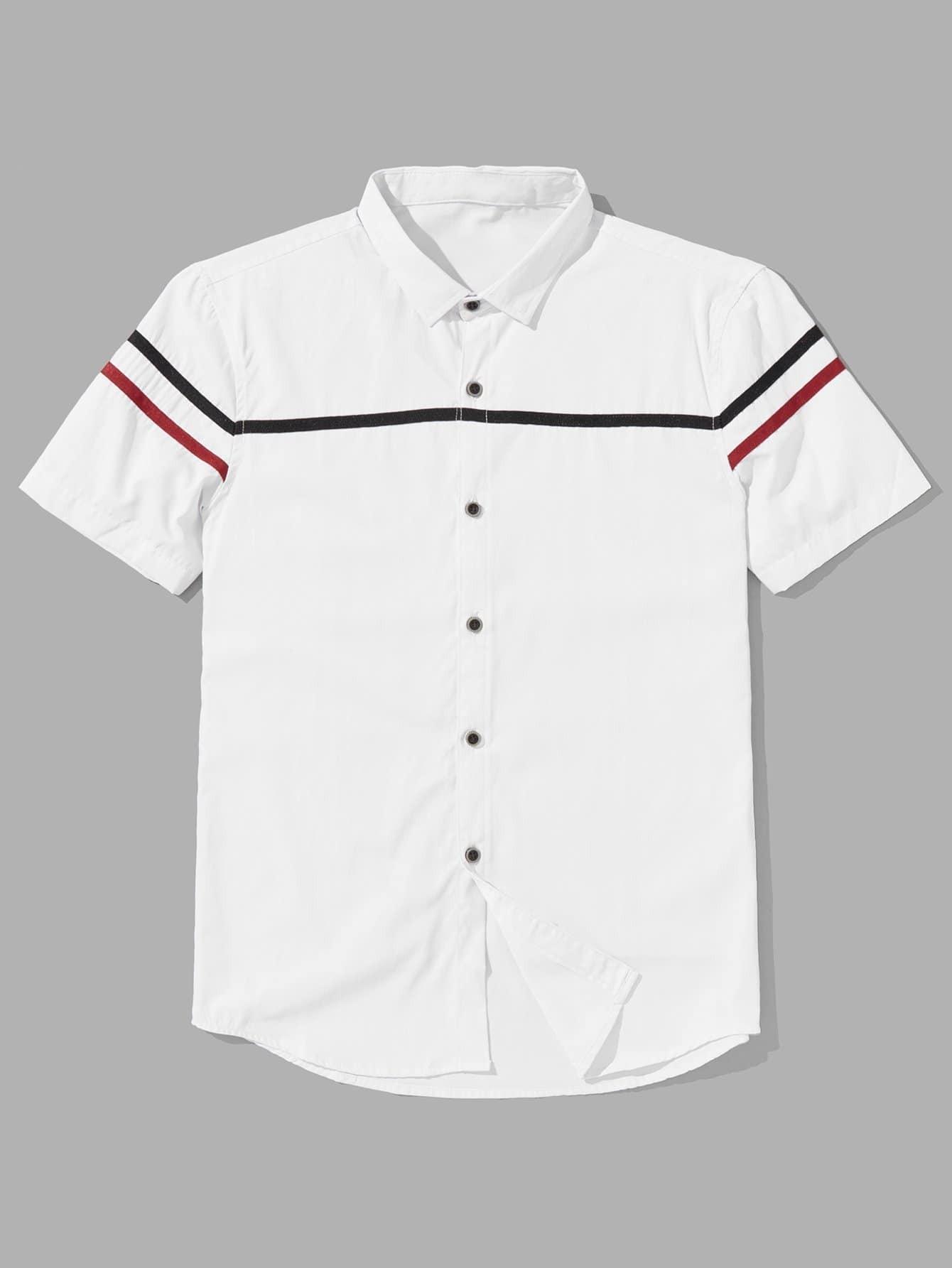 Men Varsity Striped Blouse