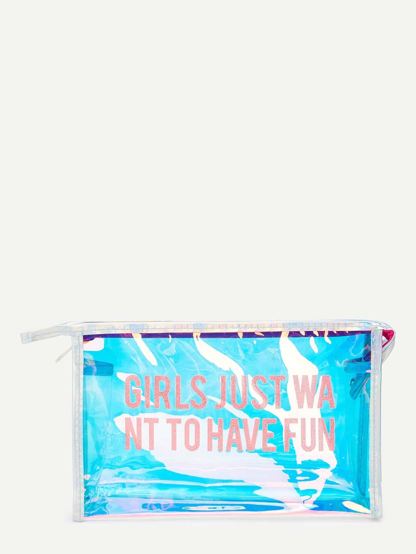 Iridescence PVC Makeup Bag makeup organizer travel bag women cosmetic bags summer dumpling clutch women packages waterproof cosmetic bag handbag