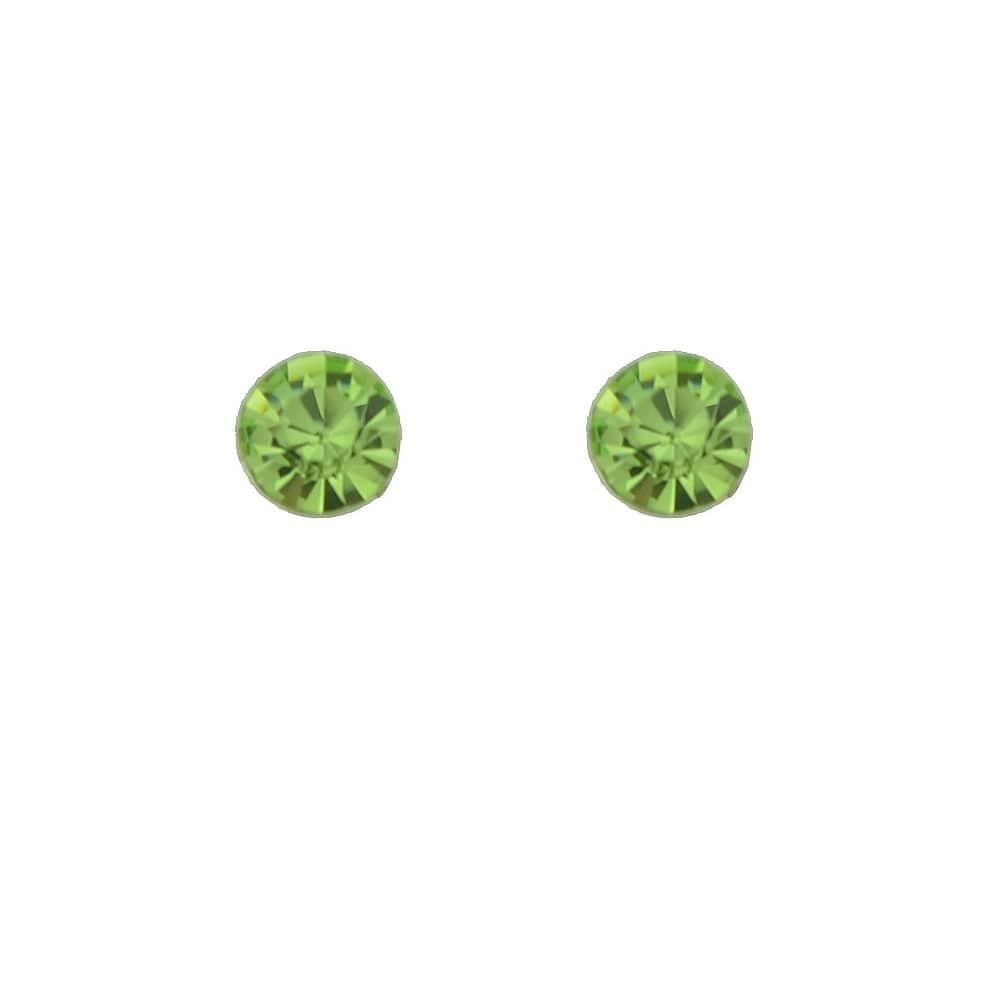Colorful Created Crystal Stud Earrings