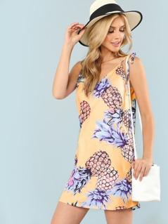 Pineapple Print Cami Dress
