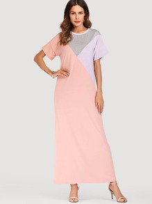 Cut And Sew Panel Dress
